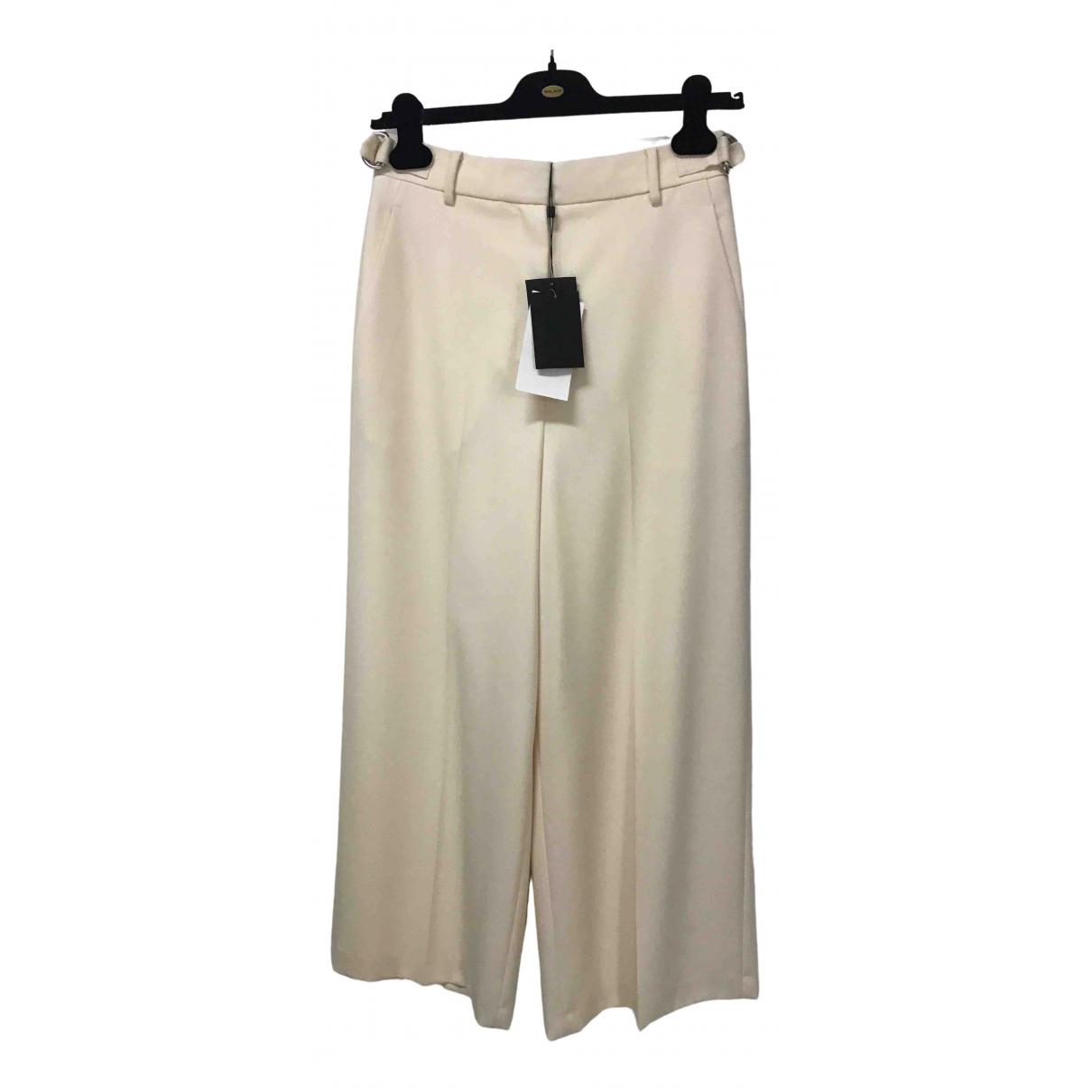 Alexander Wang \N Beige Wool Trousers for Women 6 UK