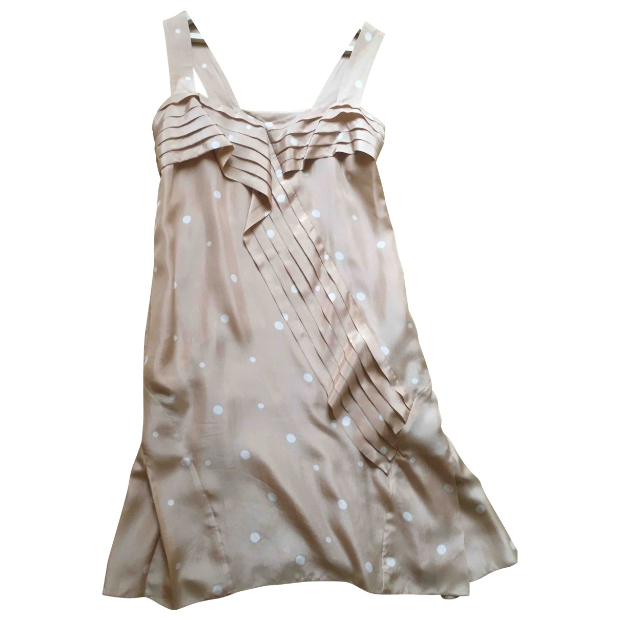 Marni - Robe   pour femme en soie - beige
