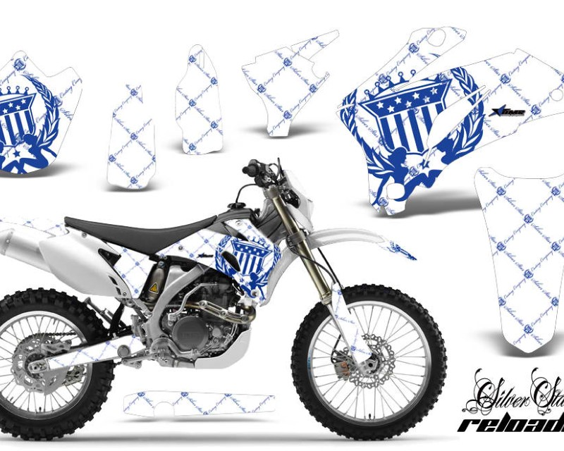 AMR Racing Dirt Bike Graphics Kit Decal Wrap For Yamaha WR250F 2007-2014 WR450F 2007-2011áRELOADED BLUE WHITE