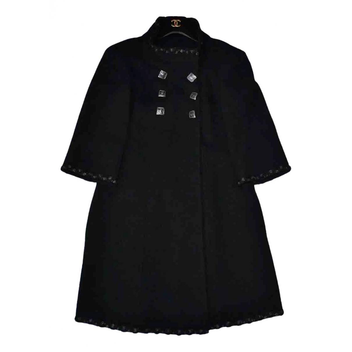 Chanel \N Maentel in  Schwarz Tweed