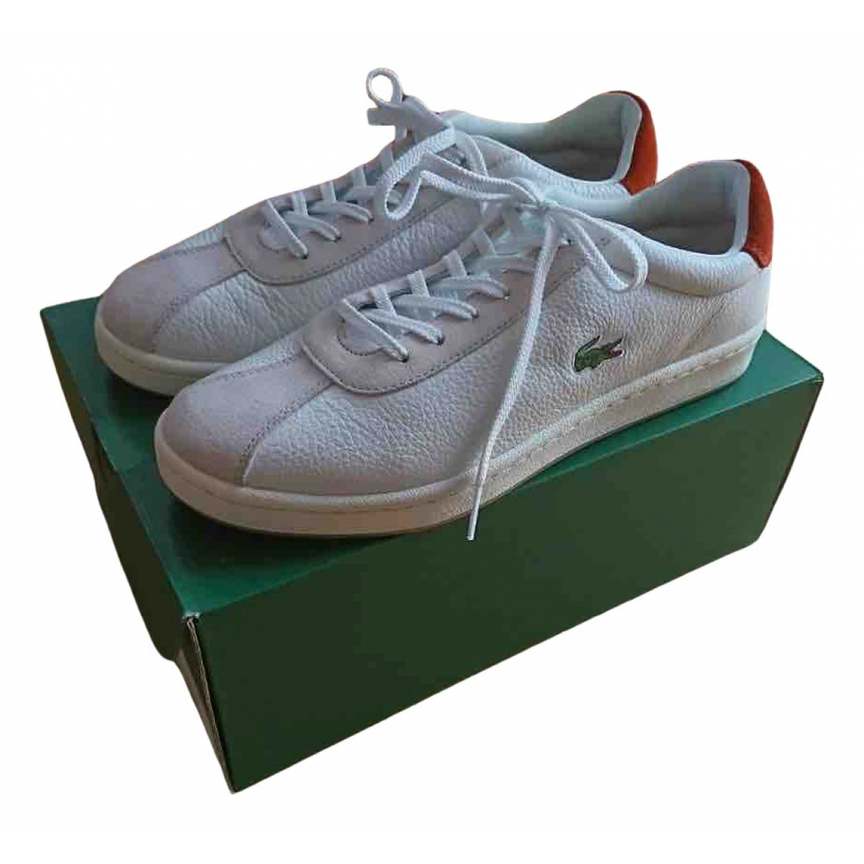 Lacoste N White Leather Trainers for Women 41 EU