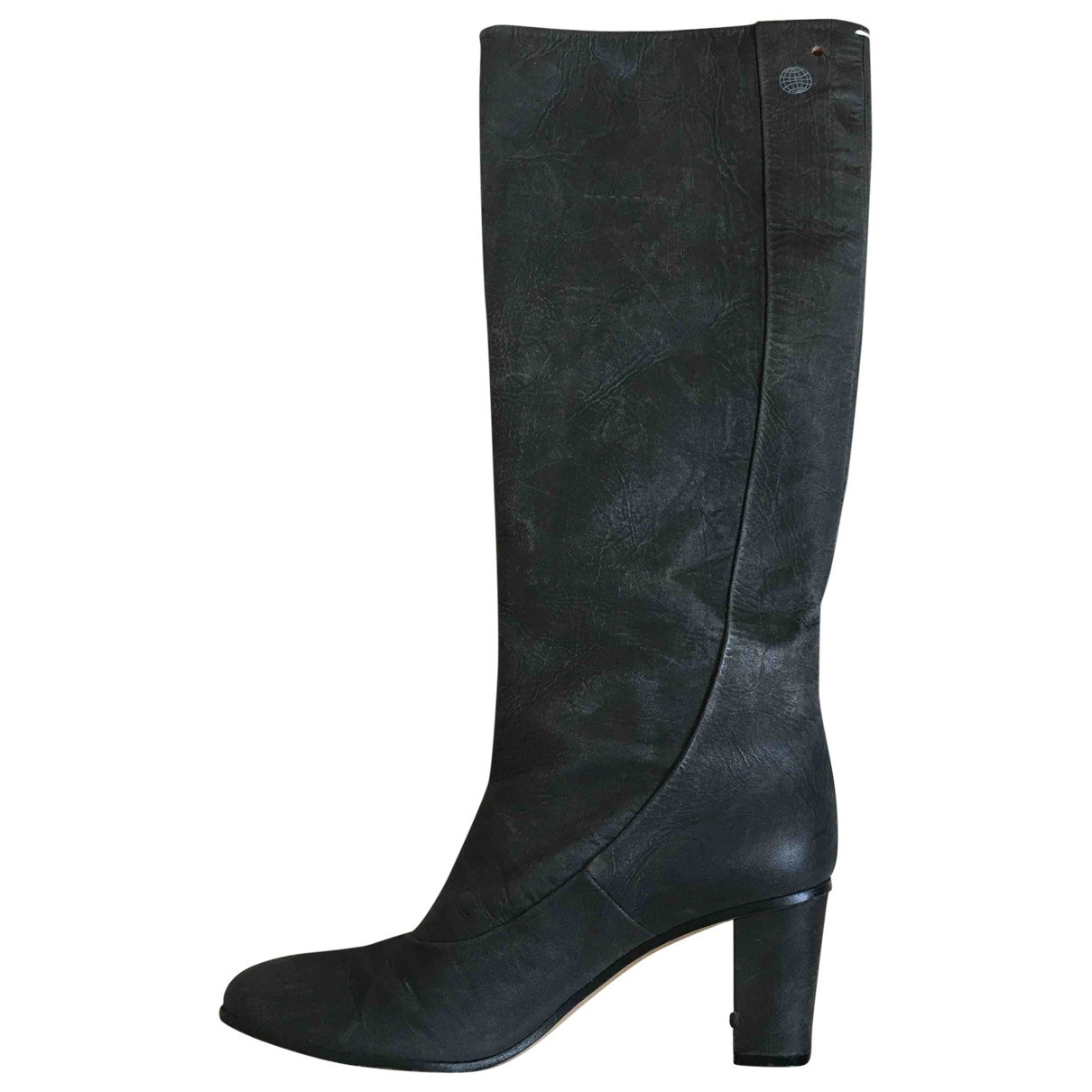 Maison Martin Margiela \N Anthracite Leather Boots for Women 41 EU
