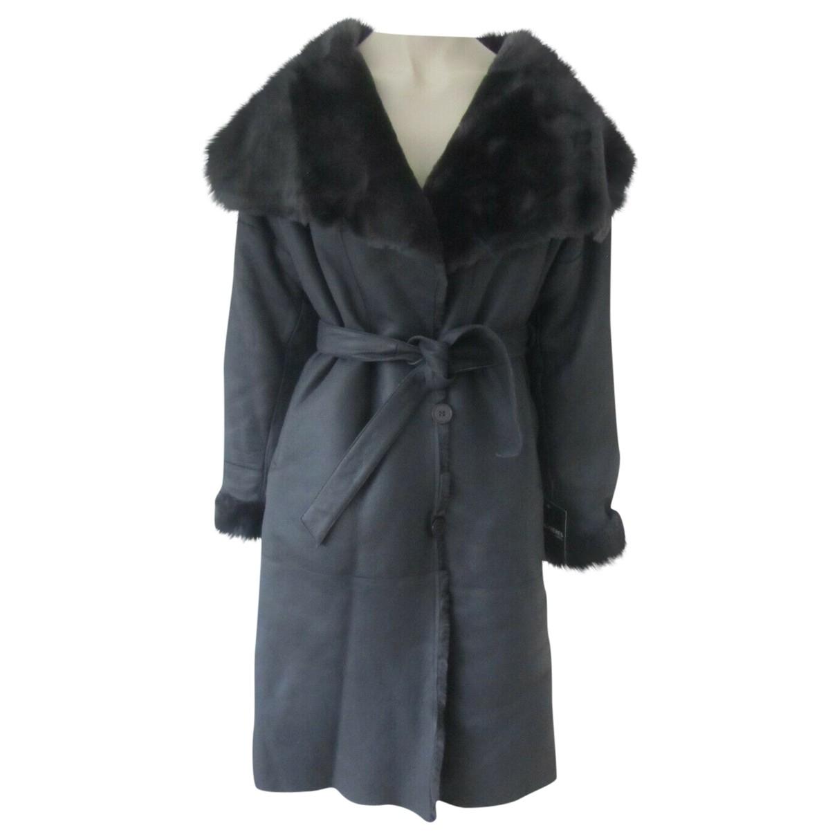 Sprung Freres - Manteau   pour femme en mouton - gris