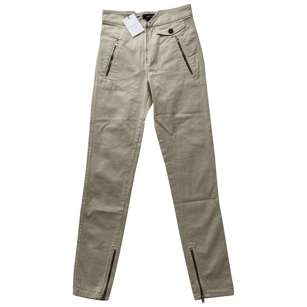 Isabel Marant \N Beige Cotton Trousers for Women 34 FR