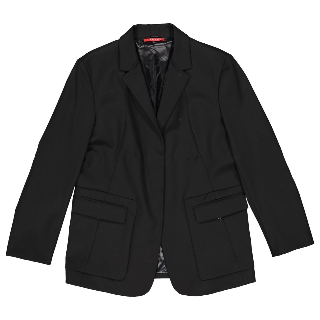 Prada \N Black Wool jacket for Women 44 IT
