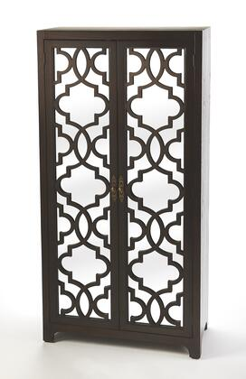 Morjanna Collection 4356403 Tall Cabinet with Transitional Style  Rectangular Shape  Medium Density Fiberboard (MDF) and Solid Wood in Coffee