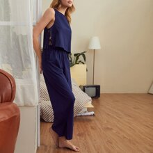 Split Tie Side Tank Top & Pants Set