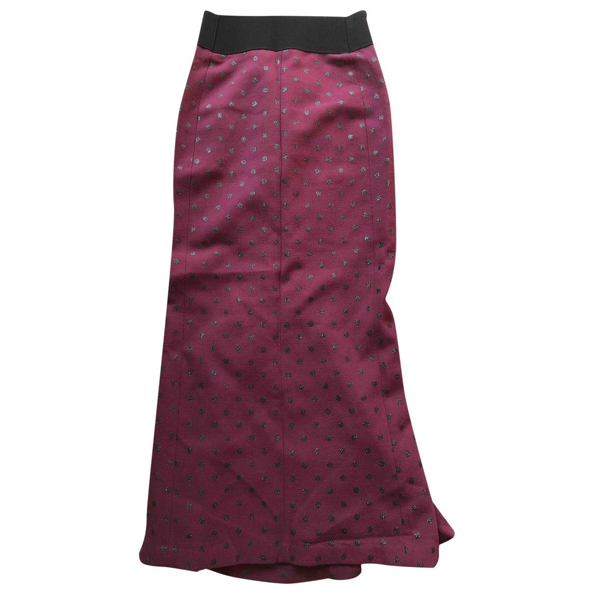 Marc Jacobs - Jupe   pour femme en laine - bordeaux