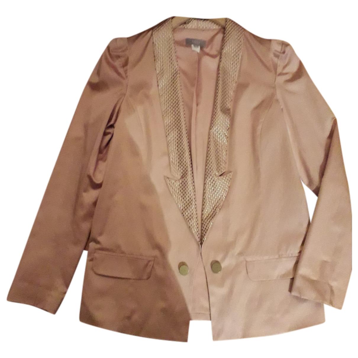 Hoss Intropia \N Pink Silk jacket for Women 36 FR
