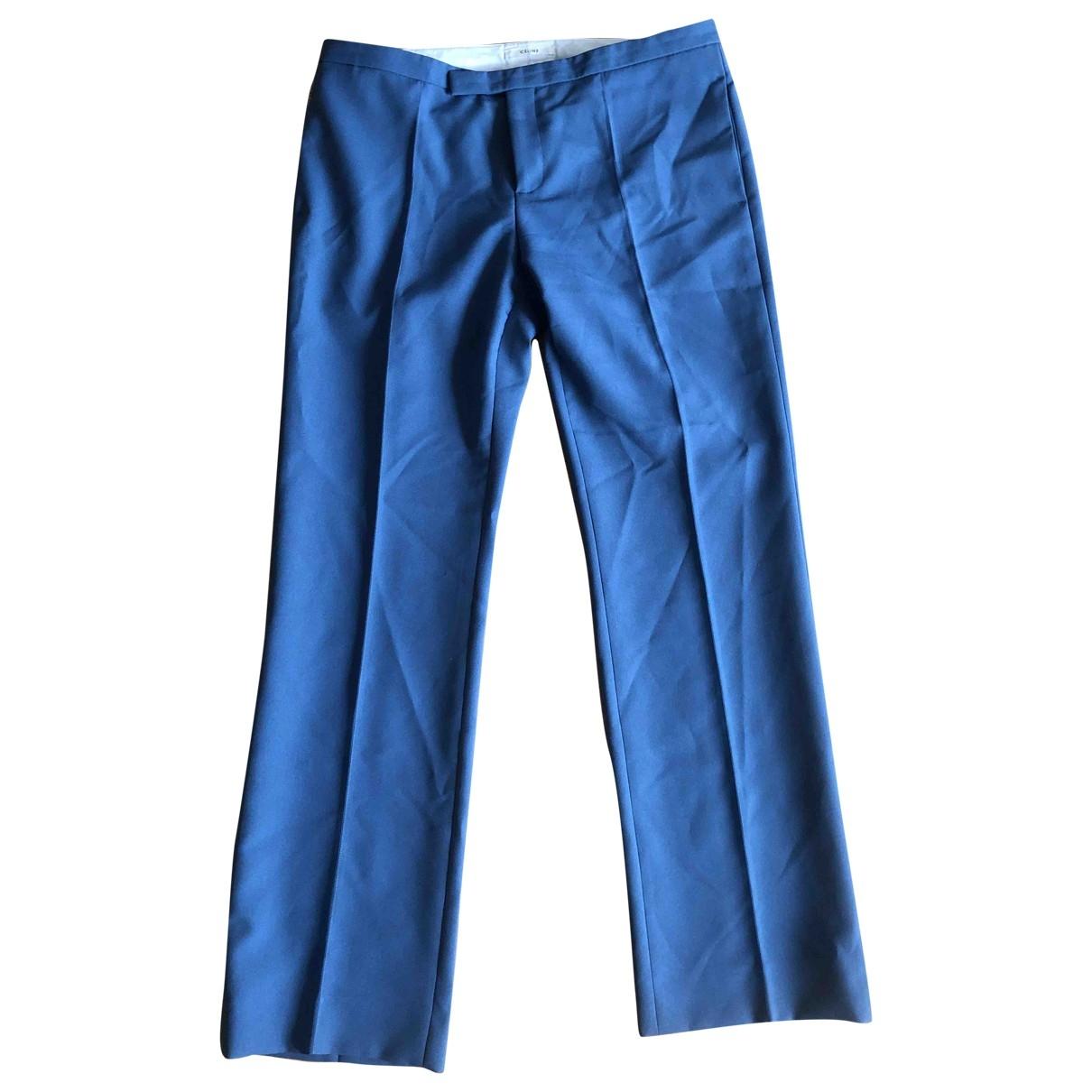 Pantalones en Poliester Azul Celine