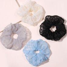 4pcs Solid Scrunchie