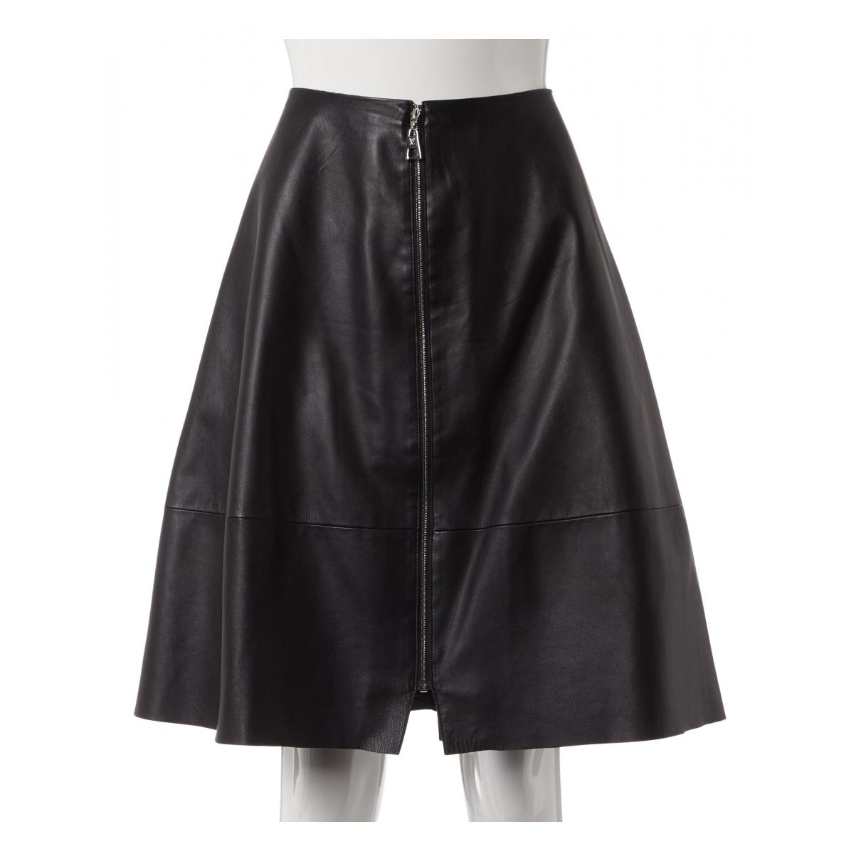 Louis Vuitton \N Rocke in  Schwarz Leder