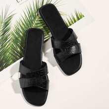 Flat Slippers mit Krokodile Muster