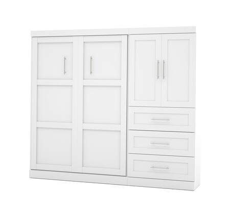 26897-17 Pur 95 Full Wall Bed Kit Including Three Drawers with Simple Pulls and Molding Detail in