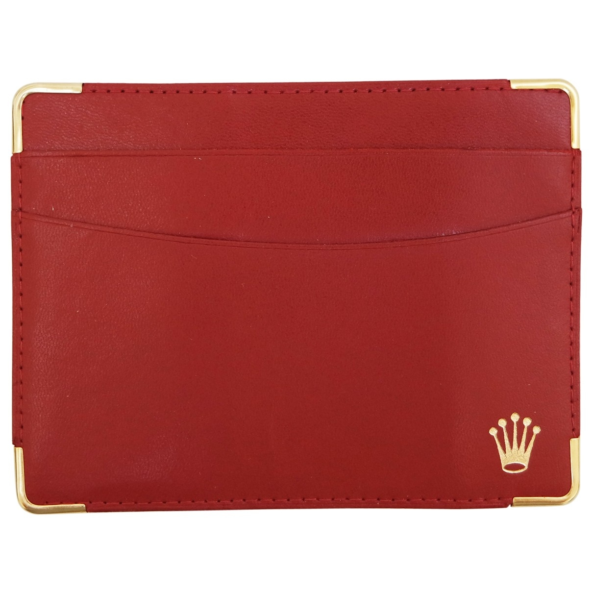 Rolex \N Red Leather Purses, wallet & cases for Women \N