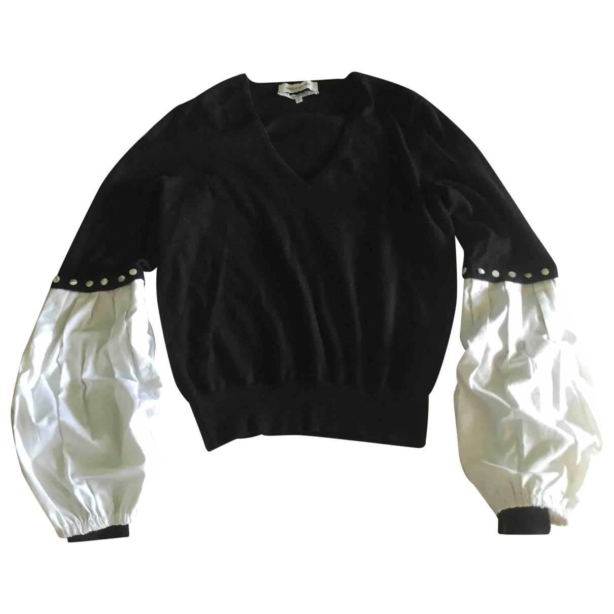 Yves Saint Laurent - Pull   pour femme en cachemire - noir