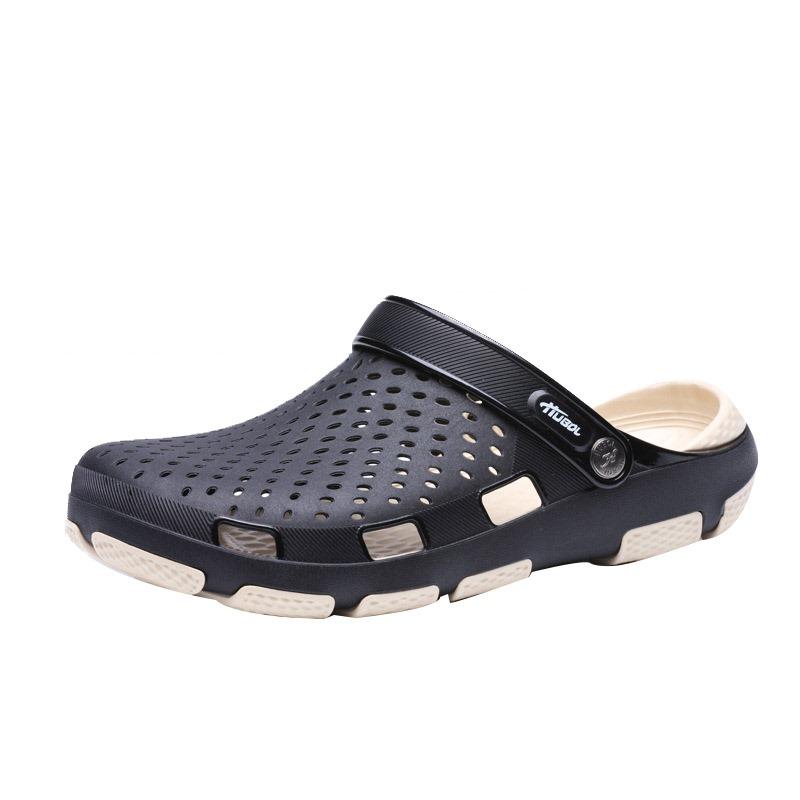 Ericdress PVC Hollow Men's Beach Sandals