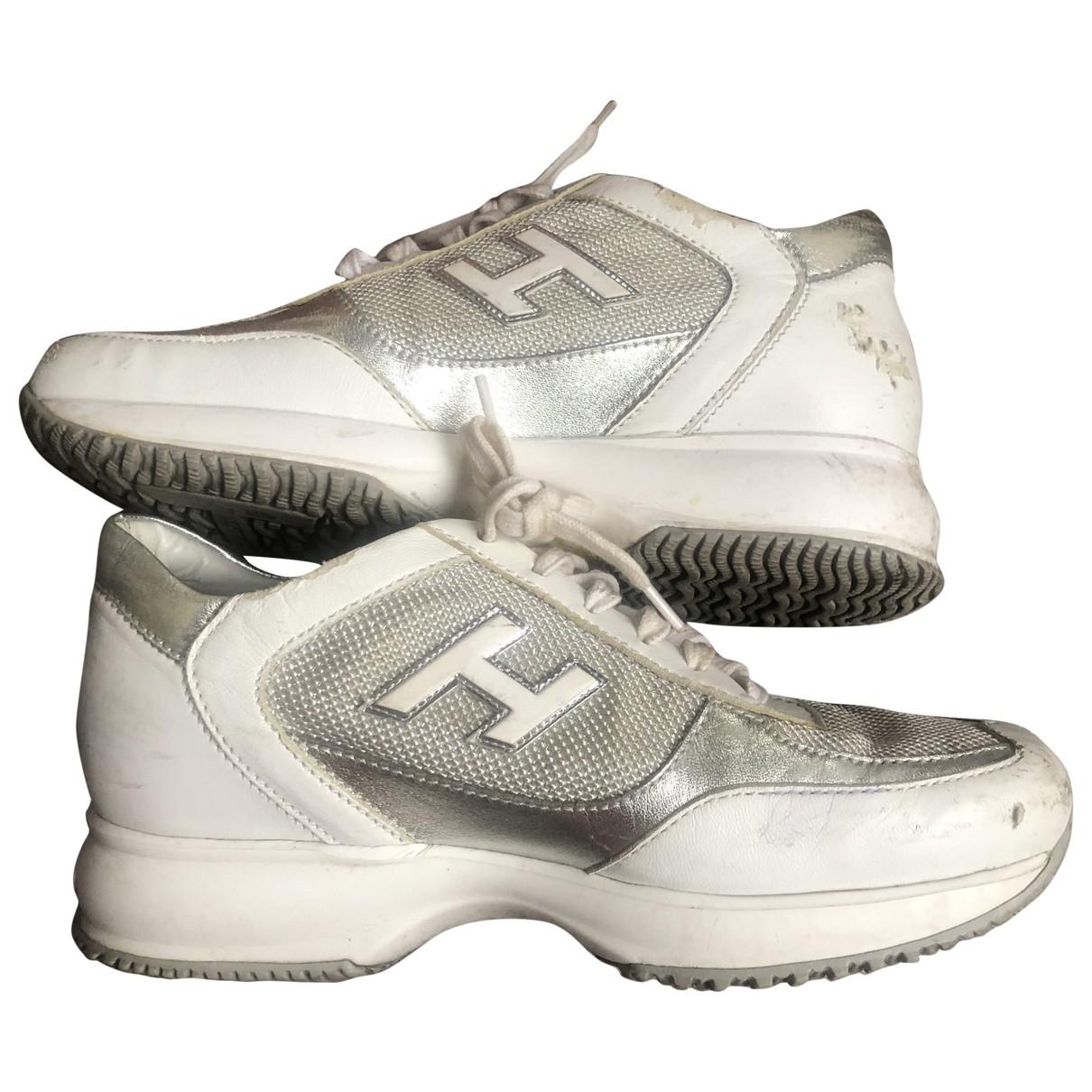 Hogan - Baskets   pour femme en cuir - gris