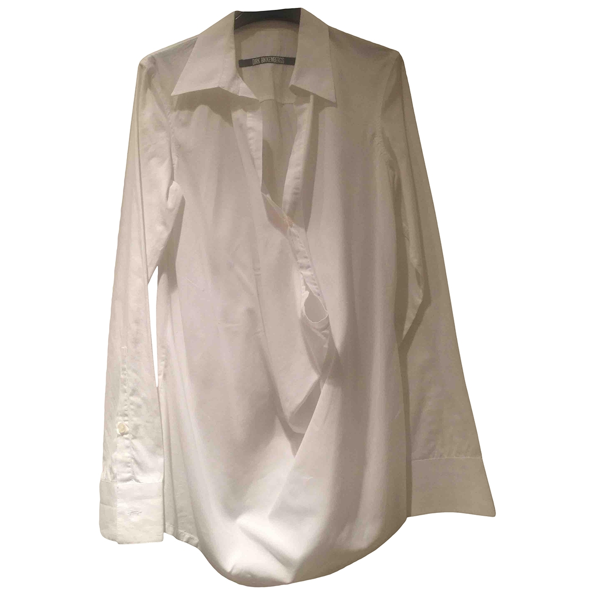Dirk Bikkembergs - Top   pour femme en coton - blanc
