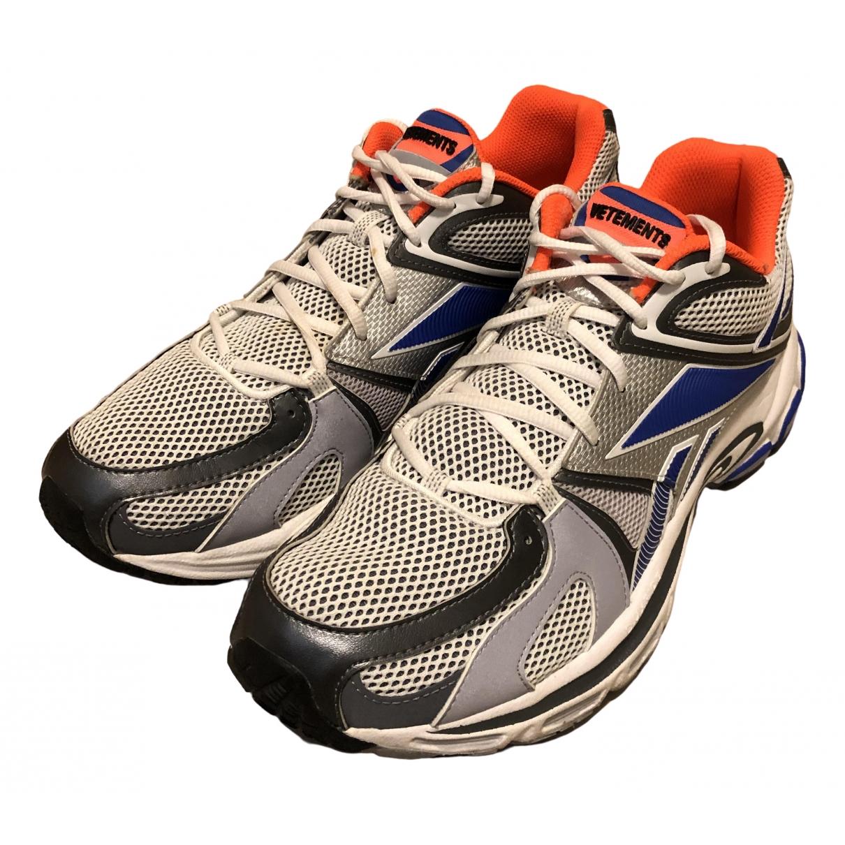 Reebok X Vetements \N Silver Cloth Trainers for Men 43 EU