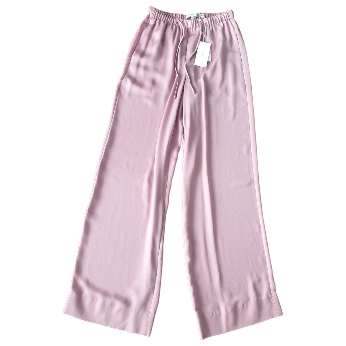 Vince \N Pink Trousers for Women XXS International