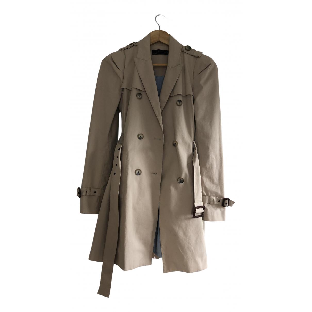 Zara \N Beige Cotton Trench coat for Women S International