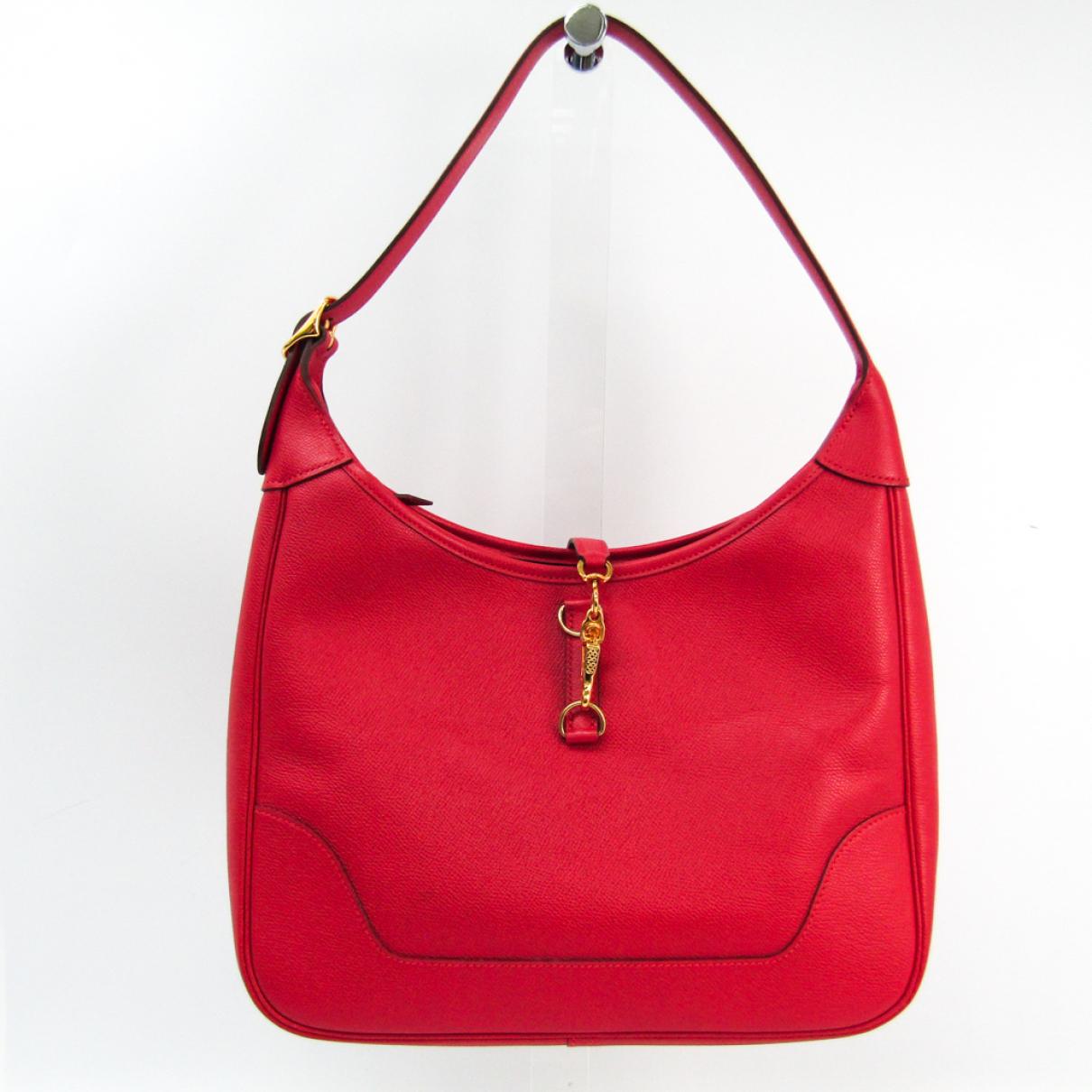 Hermes Trim Handtasche in  Rot Leder