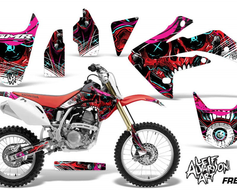 AMR Racing Dirt Bike Graphics Kit Decal Sticker Wrap For Honda CRF150R 2007-2016áFRENZY RED