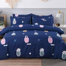 Set de cama con piña sin relleno