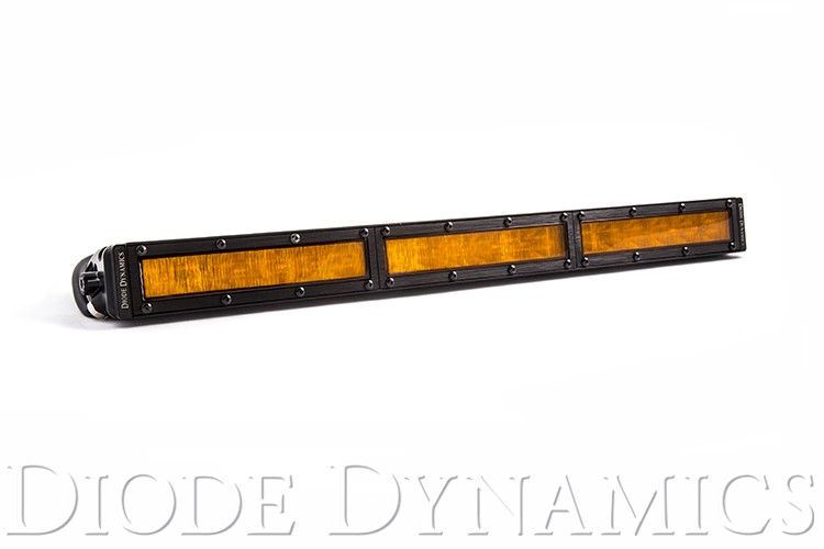 Diode Dynamics DD5046 18 Inch LED Light Bar  Single Row Straight Amber Wide Each Stage Series