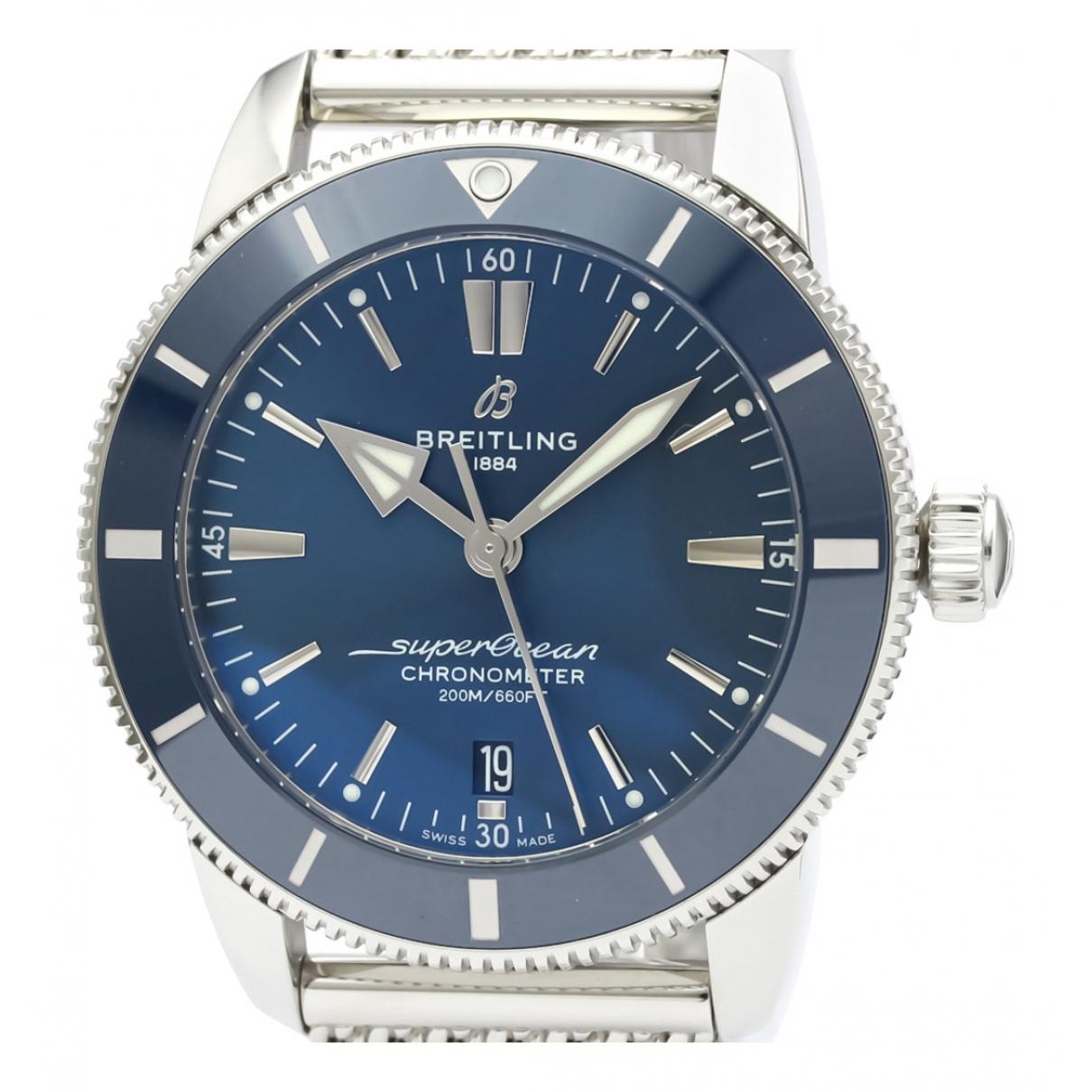 Breitling SuperOcean Uhr in  Blau Stahl