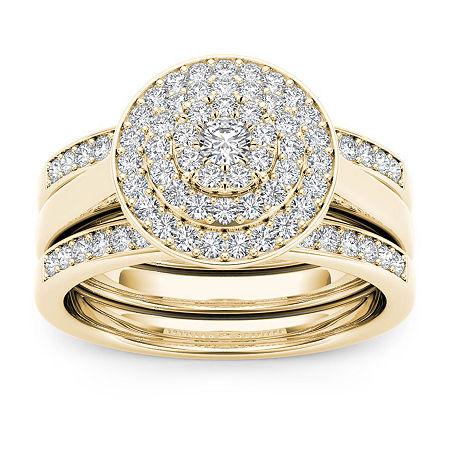 Womens 3/8 CT. T.W. Genuine White Diamond 10K Gold Bridal Set, 7 1/2 , No Color Family