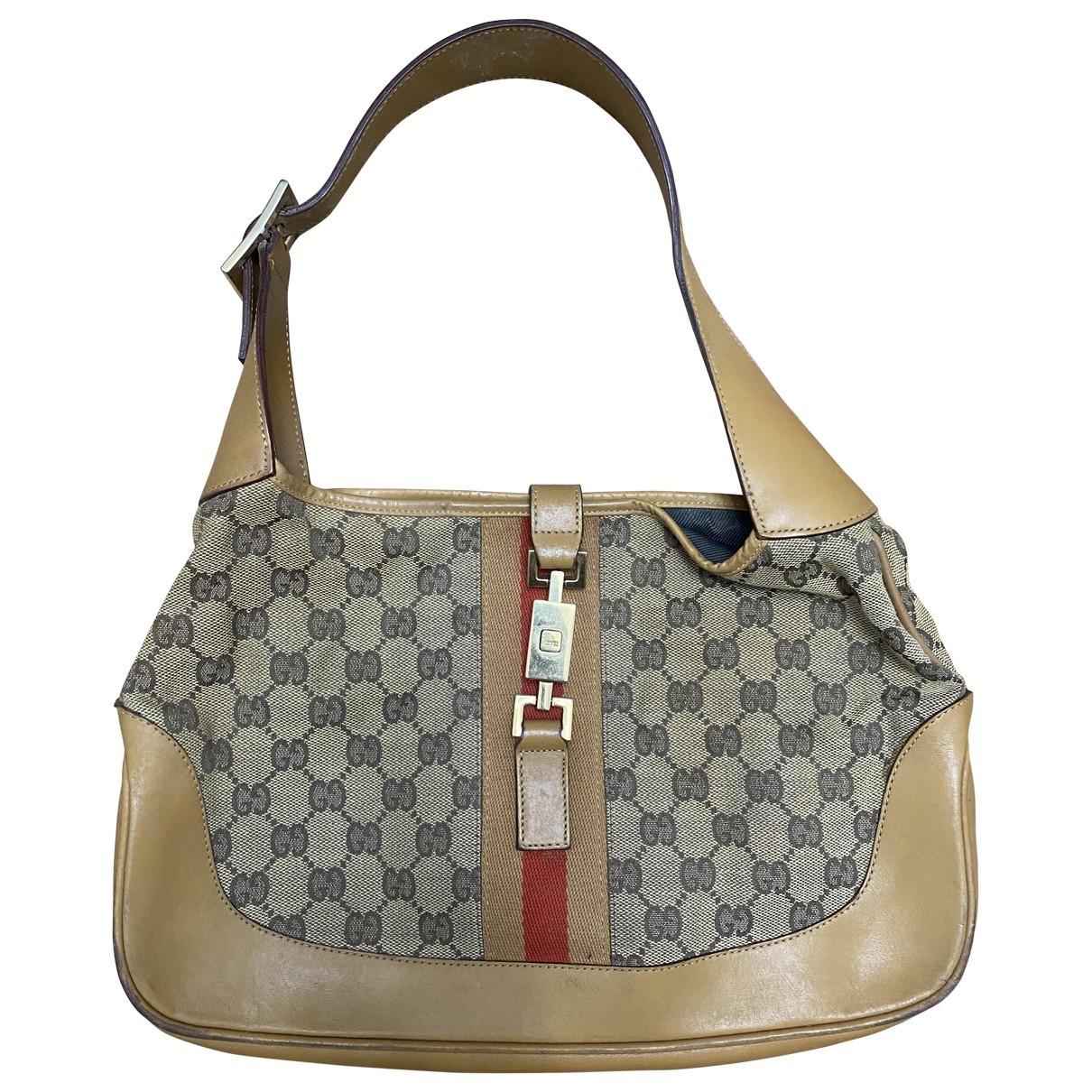 Gucci Jackie Vintage  Handtasche in  Kamel Leder