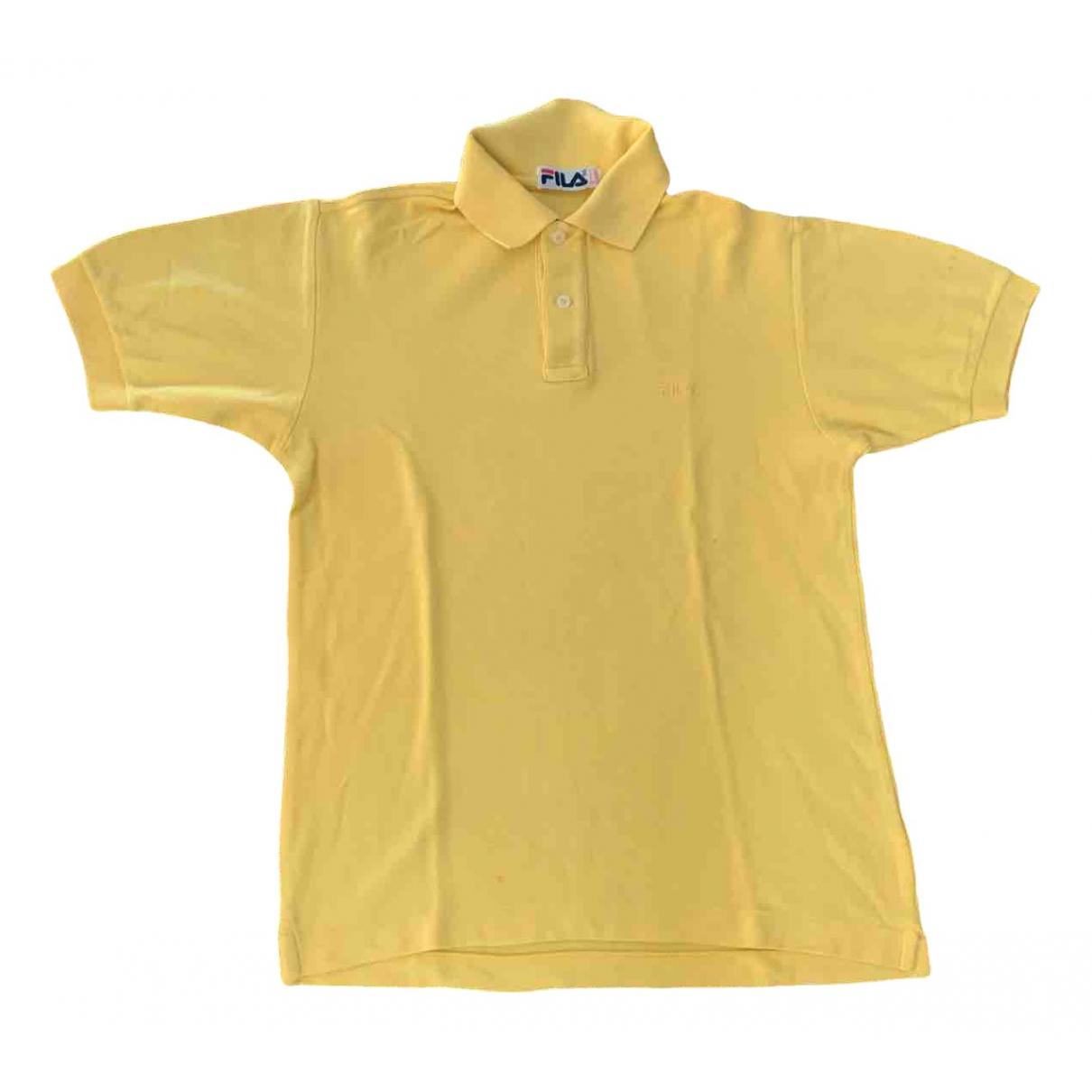 Fila - Polos   pour homme en coton - jaune