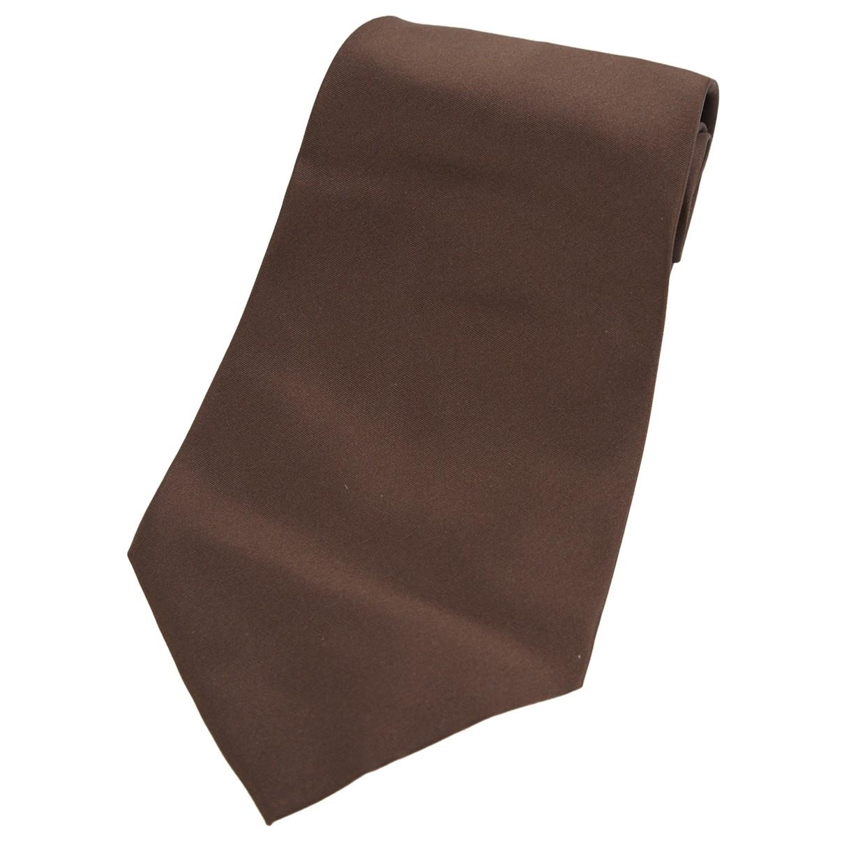 Yves Saint Laurent \N Brown Silk Ties for Men \N