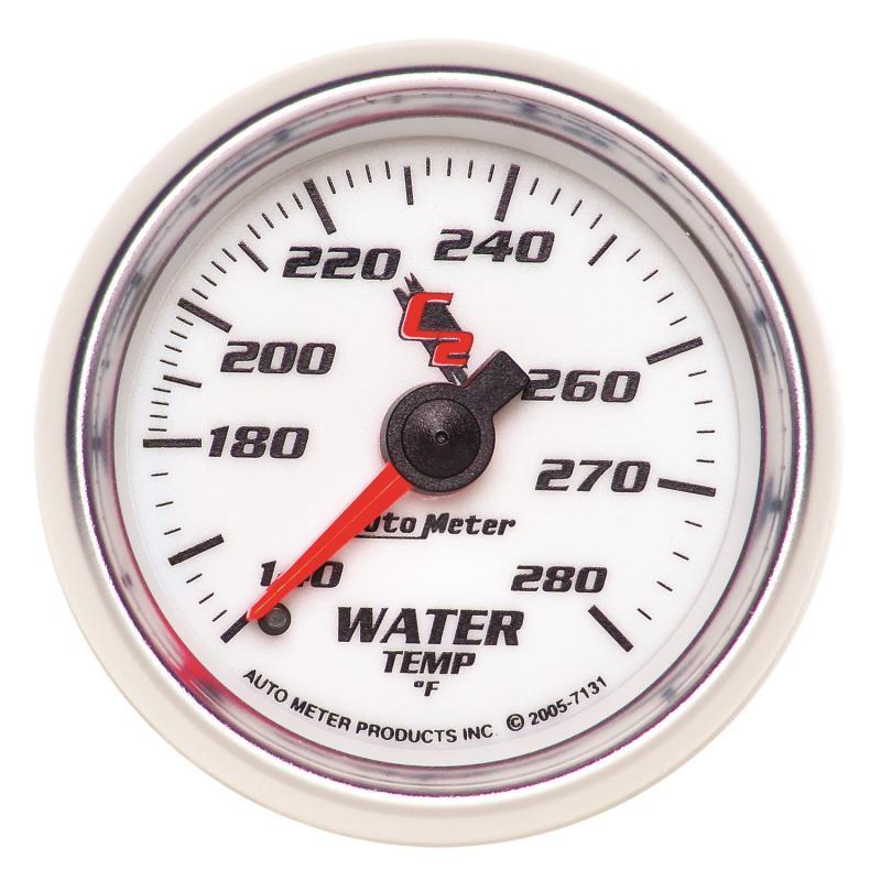 AutoMeter GAUGE; WATER TEMP; 2 1/16in.; 140-280deg.F; MECHANICAL; C2