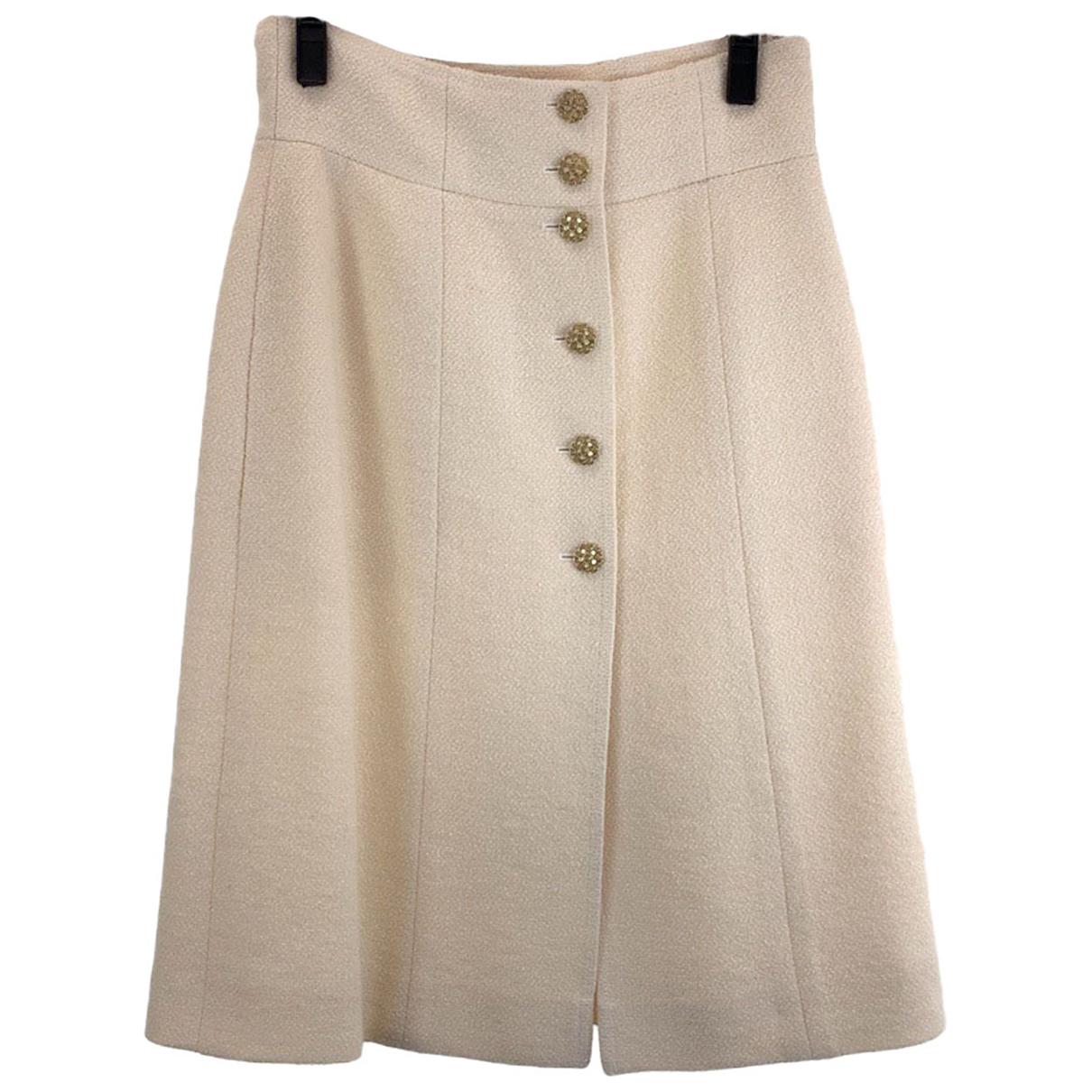 Chanel - Jupe   pour femme en laine - beige