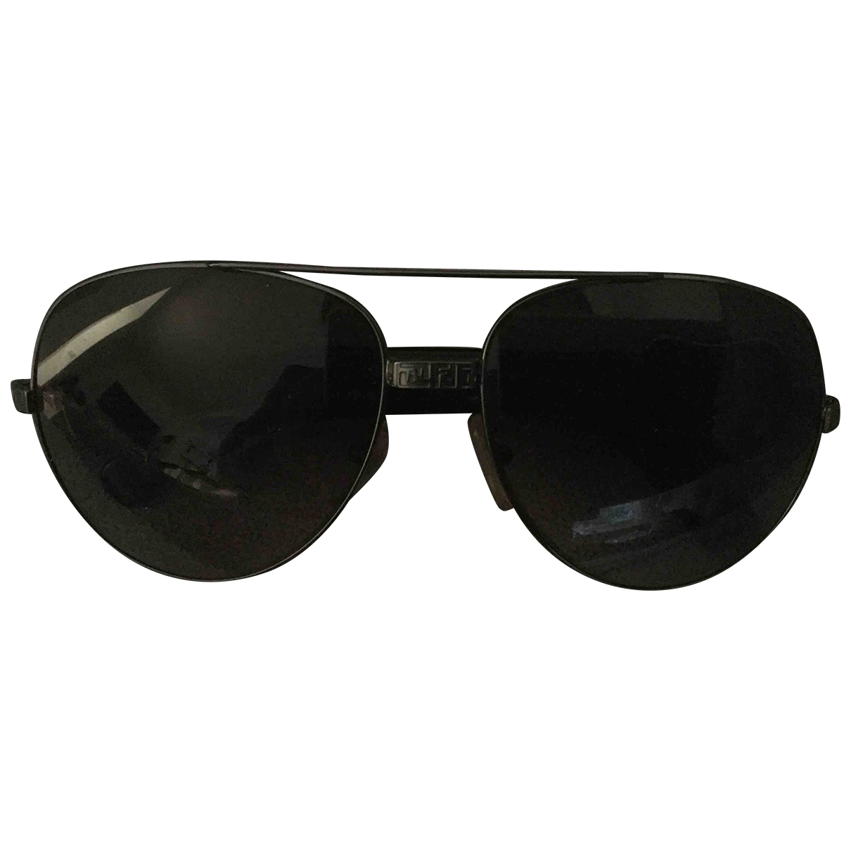 Fendi \N Black Metal Sunglasses for Women \N