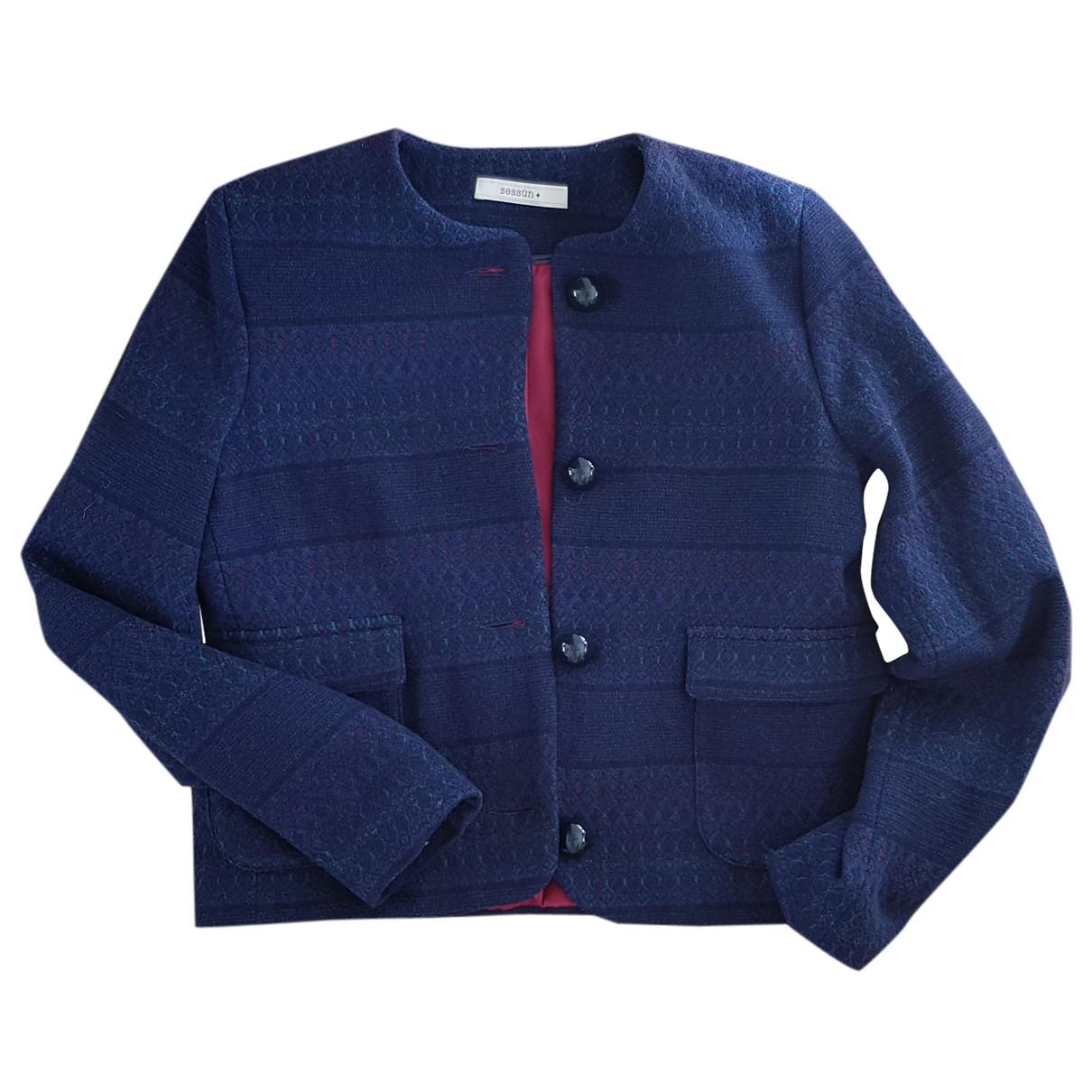 Sessun N Navy Wool jacket for Women M International