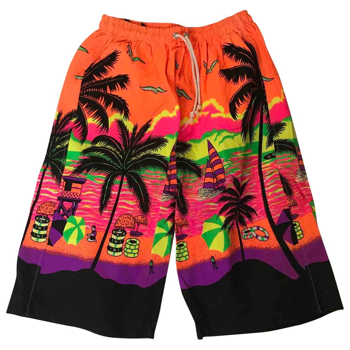 Non Signé / Unsigned \N Multicolour Cotton - elasthane Swimwear for Men S International