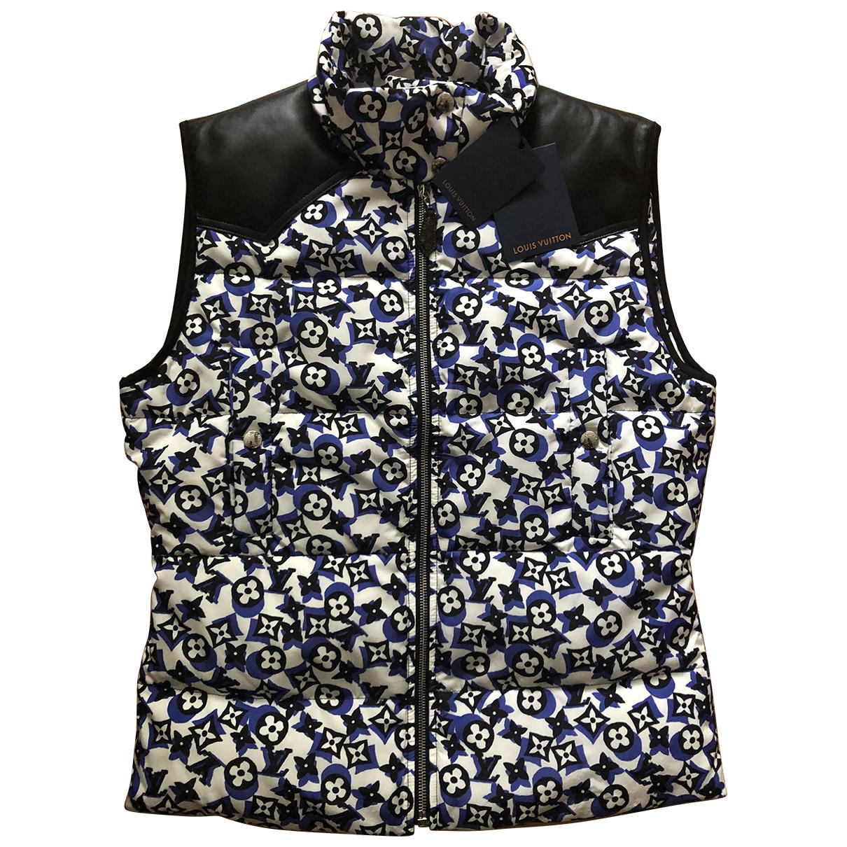 Louis Vuitton \N Jacke in  Blau Polyester
