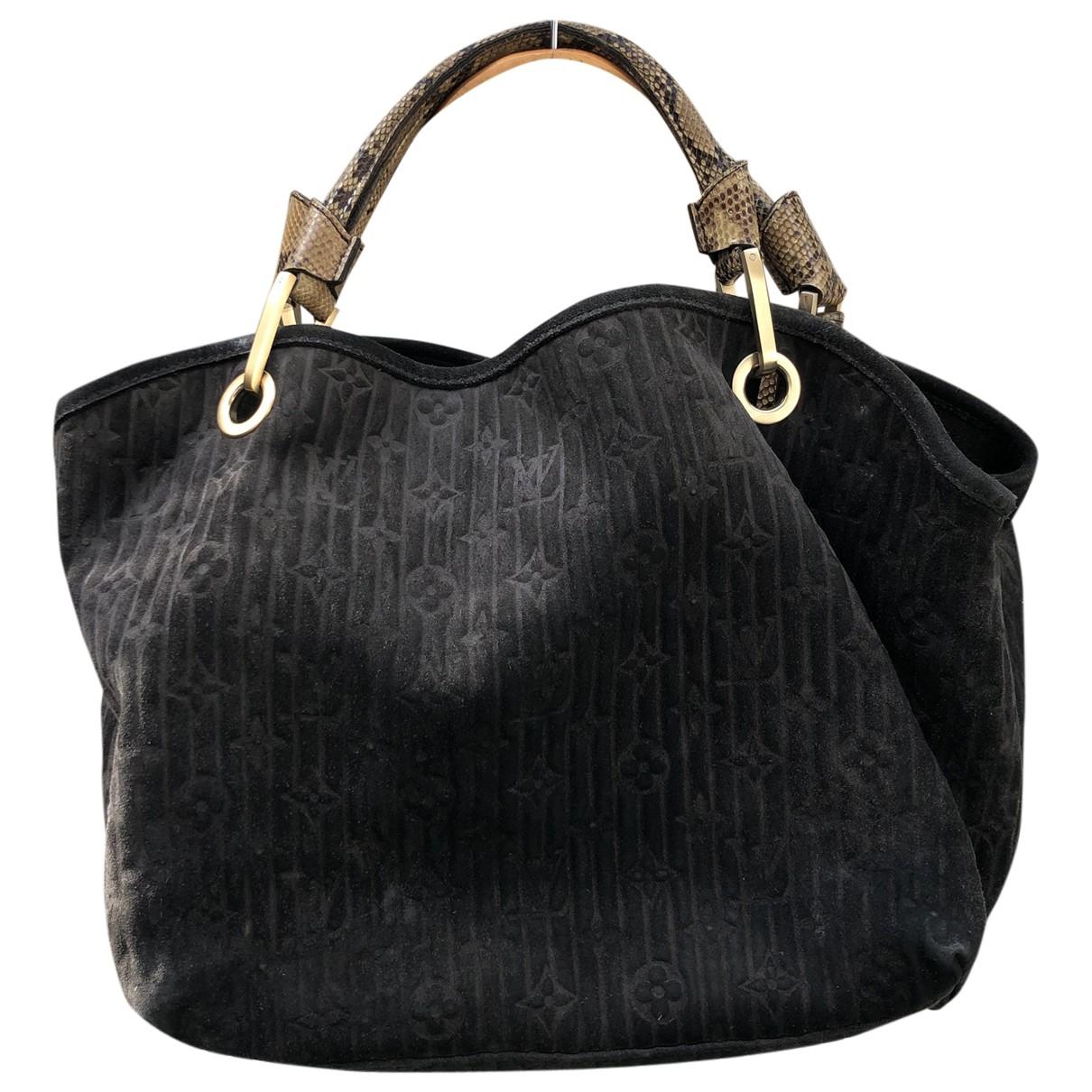 Louis Vuitton \N Handtasche in  Anthrazit Veloursleder