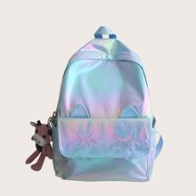 Girls Holographic Cartoon Graphic School Bag