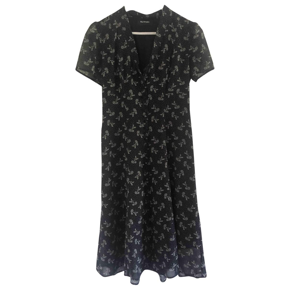 The Kooples Spring Summer 2019 Navy Silk dress for Women 34 FR