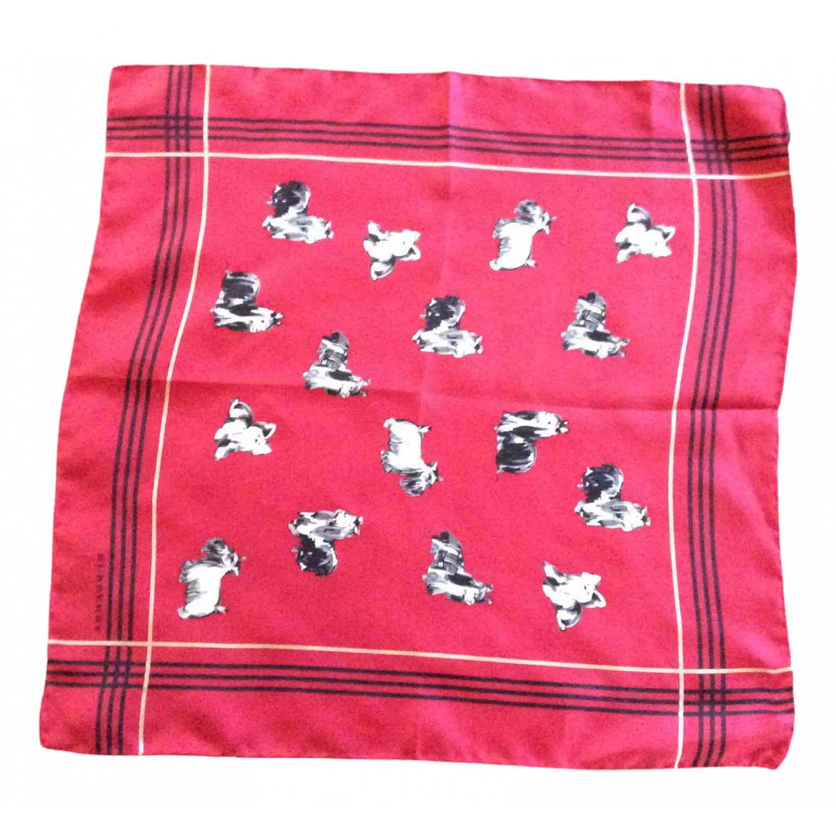 Burberry - Carre   pour femme en soie - rouge