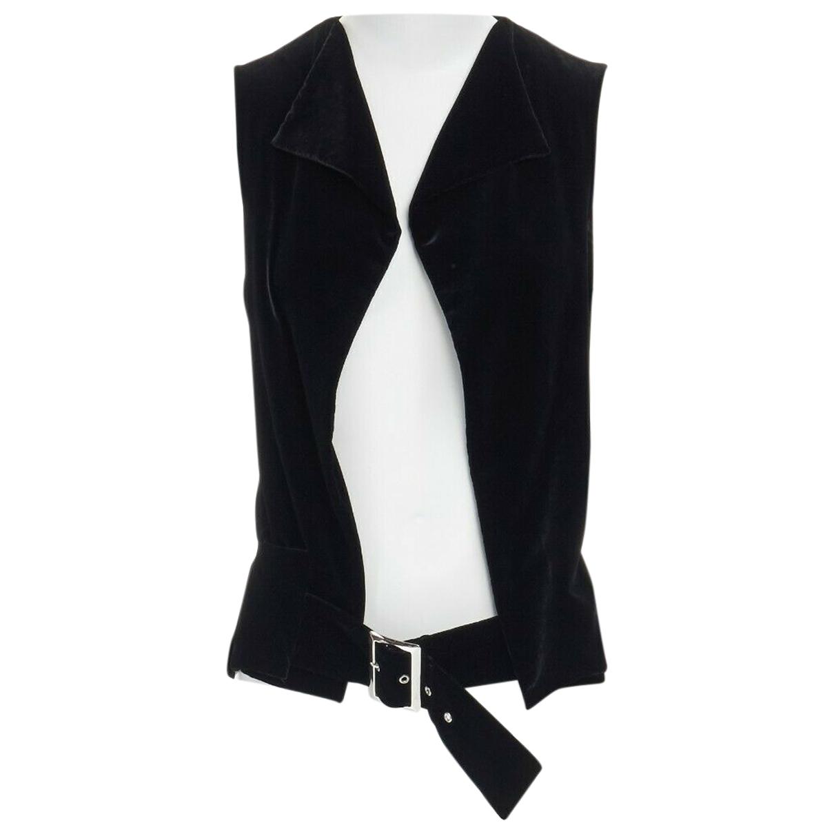 Yohji Yamamoto - Veste   pour femme en velours - noir