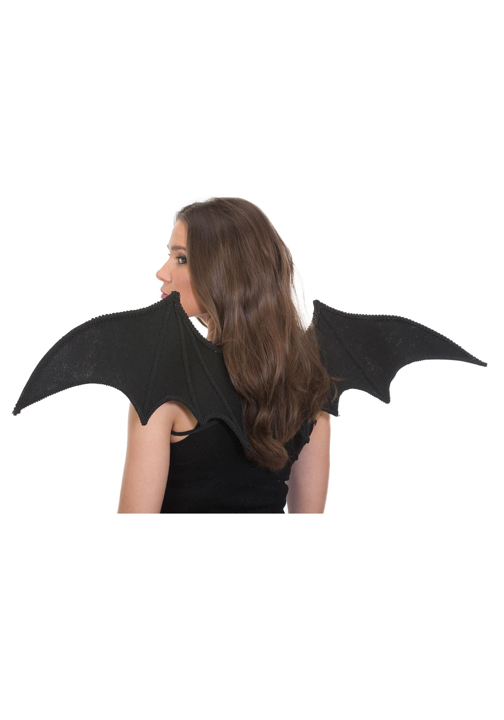 Pointy Black Bat Wings