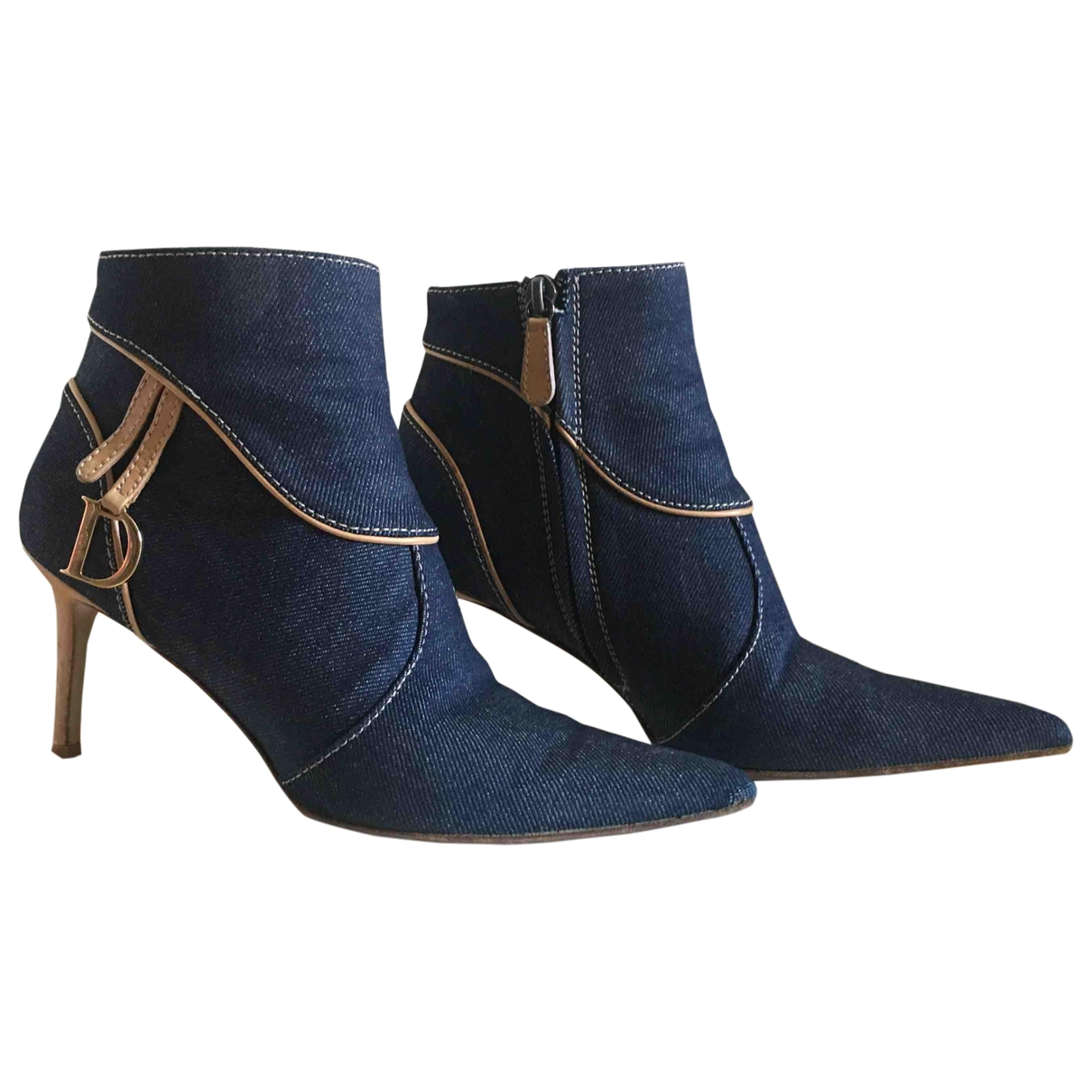 Dior \N Blue Cloth Ankle boots for Women 37.5 EU