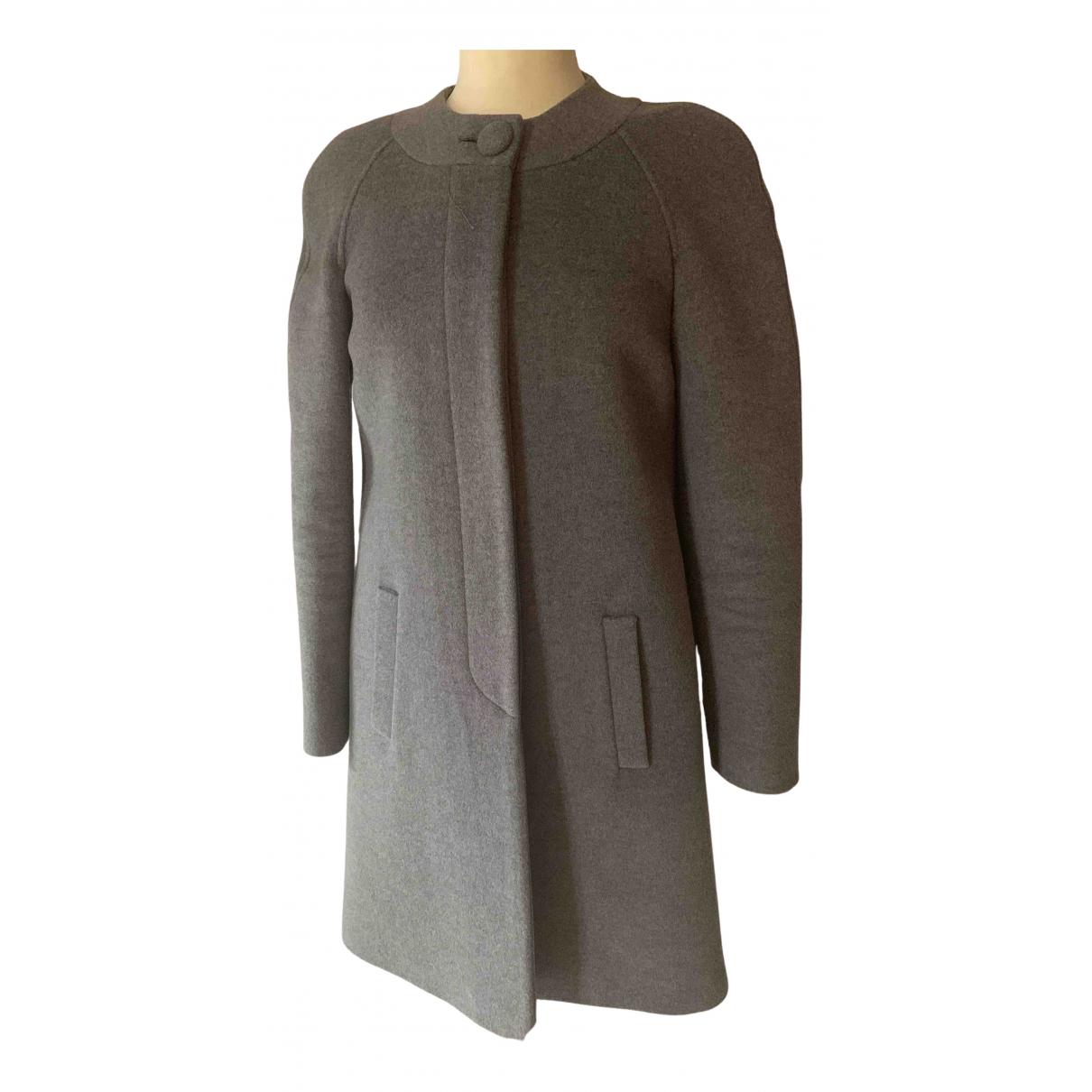 Blumarine N Grey Wool coat for Women 38 FR