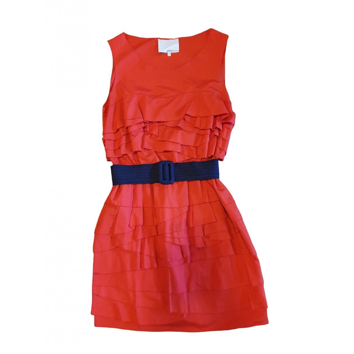 3.1 Phillip Lim \N Kleid in  Rot Baumwolle